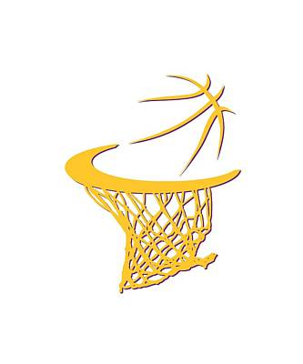 Lakers Basketball Hoop Art Print by Joe Hamilton