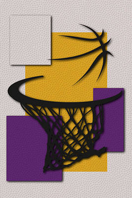Lakers Hoop Art Print by Joe Hamilton