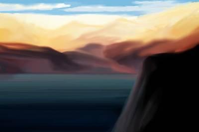 Digital Art - Lakes And Mountains 102110 by David Lane