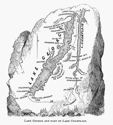 Lakes George And Champlain Print by Granger