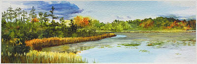 Lilly Pond Painting - Lakes Of Indianwood by Lauren Everett Finn