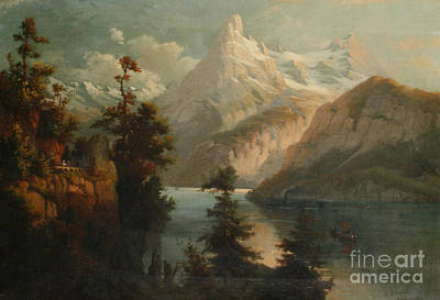 Lake_scene Art Print by MotionAge Designs