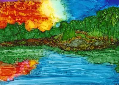 Joy Dorr Painting - Lakeshore by Joy Dorr