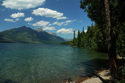 Photograph - Lakeshore Mcdonald Lake Glacier Np by Christiane Schulze Art And Photography