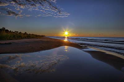 Photograph - Lakeshore Reflections by CA  Johnson