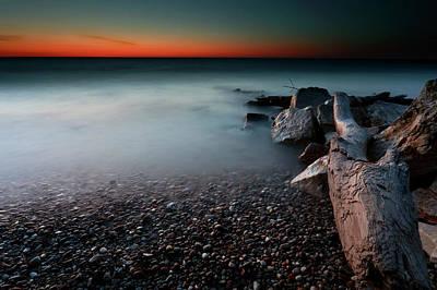 Photograph - Lakeshore Score by CA Johnson
