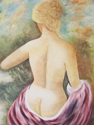Linda King Painting - Lakeside Bath by Linda King