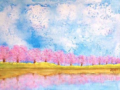 Lakeside Blossoms Original