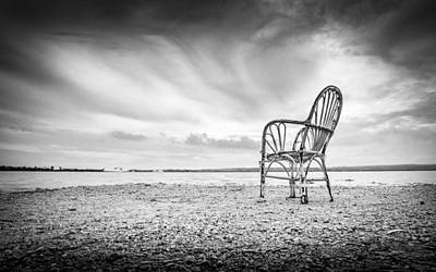 Photograph - Lakeside Chair. by Gary Gillette