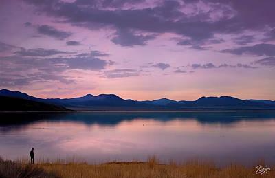 Photograph - Lakeside Dawn by Endre Balogh