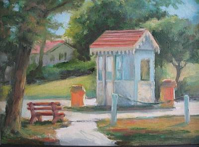 Painting - Lakeside East Gate by Sharon Weaver