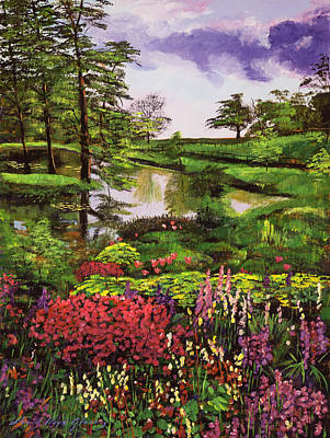 Painting - Lakeside Garden by David Lloyd Glover