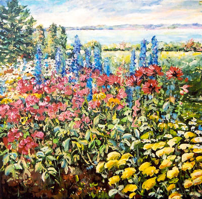 Painting - Lakeside Garden by Ingrid Dohm
