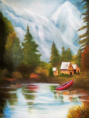 Painting - Lakeside Getaway by Joni McPherson