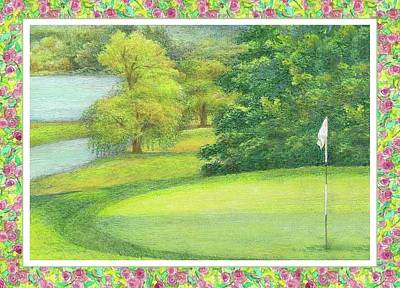 Painting - Lakeside Golfing Illustration by Judith Cheng
