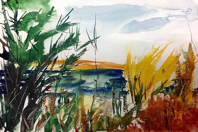 Painti Painting - Lakeside Hot Mush  by Desmond Raymond