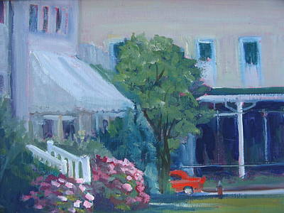 Painting - Lakeside Hotel by Judy Fischer Walton