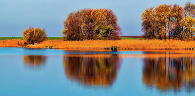 Photograph - Lakeside In Autumn by Pixabay