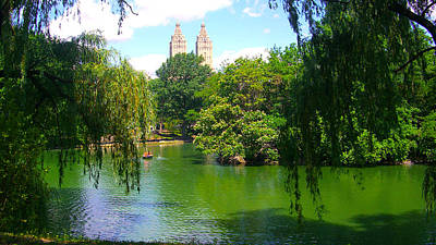 Photograph - Lakeside In Manhattan, New York by Monique's Fine Art
