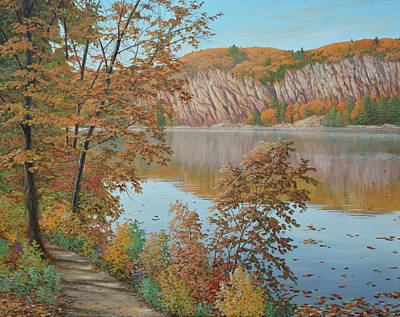 Painting - Lakeside In October by Jake Vandenbrink
