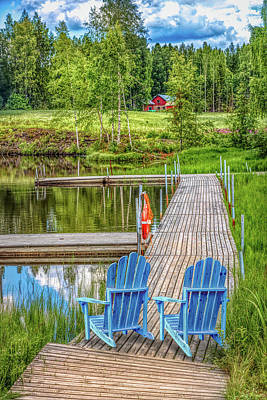 Photograph - Lakeside In The Summer by Debra and Dave Vanderlaan