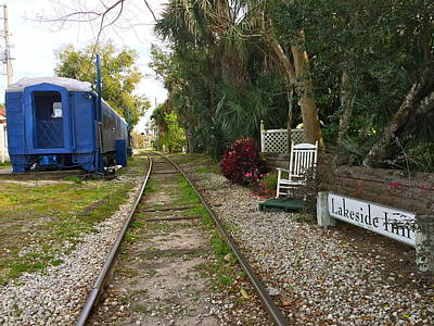 Photograph - Lakeside Inn Train Station by Denise Mazzocco
