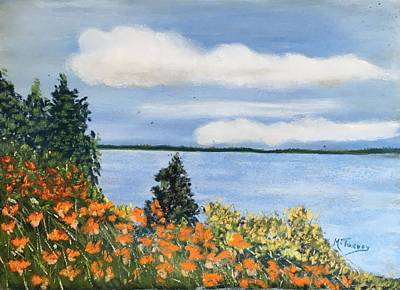 Pastel - Lakeside Lillies by Michele Turney