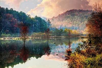 Photograph - Lakeside Mists by Debra and Dave Vanderlaan