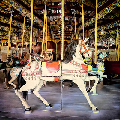 Photograph - Lakeside Park Carousel by Leslie Montgomery