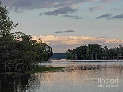 Lake Murray Photograph - Lakeside Reverie by Skip Willits