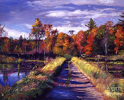 Pathway Painting - Lakeside Road by David Lloyd Glover