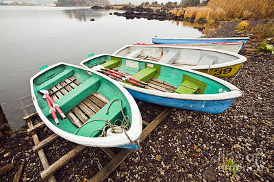Photograph - Lakeside Rowboats by Bill Brennan - Printscapes