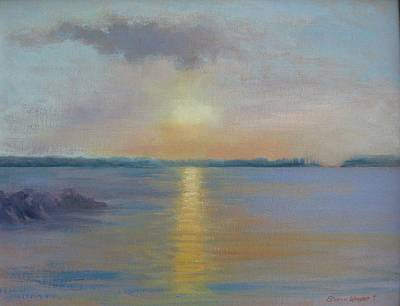 Painting - Lakeside Sunset by Sharon Weaver