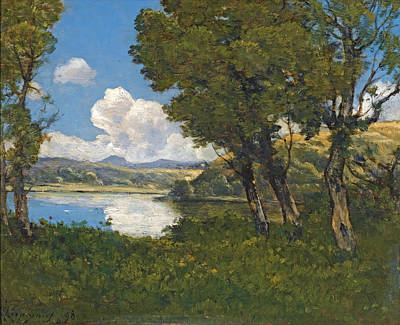 Painting - Lakeside by The Roman Forum