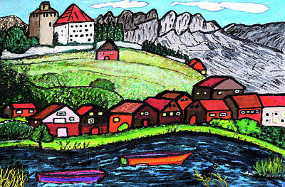 Lakeside View Art Print by Monica Engeler