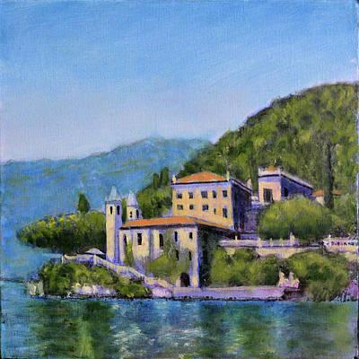 Lake Como Painting - Lakeside Villa by David Zimmerman