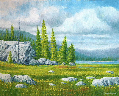 Painting - Lakeside Wildflowers by Douglas Castleman
