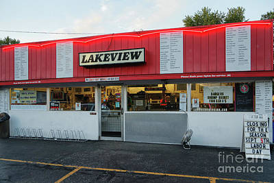Photograph - Lakeview Drive In Winona Minnesota by Kari Yearous