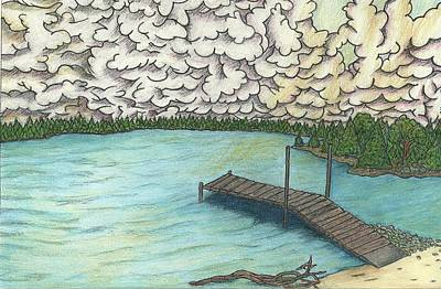 Drawing - Lakeview by Steve Weber