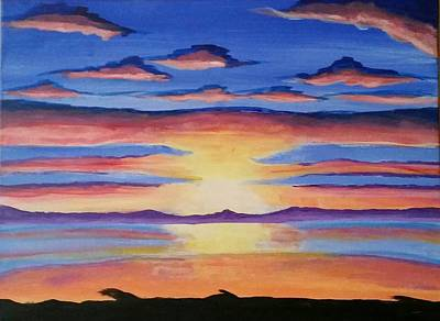 Painting - Lakeview Sunset by Carol Duarte