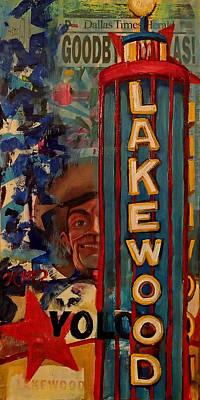Lakewood Theater Marquee Original by Katrina Rasmussen