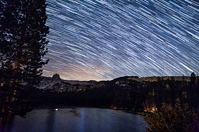 Photograph - Lakie Maime Star Trails by Cat Connor