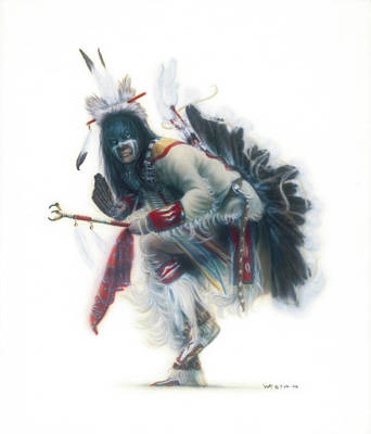 Lakota Dancer Art Print