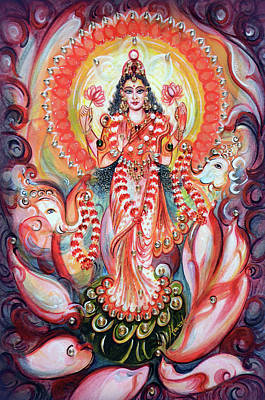 Painting - Lakshmi Blessings  by Harsh Malik