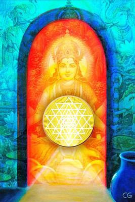 Manifestations Digital Art - Lakshmi's Gift by Clare Goodwin