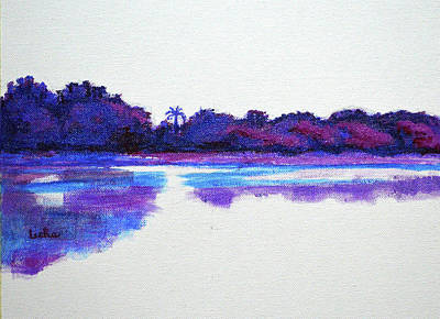 Painting - Lal Bagh Lake Panorama 2 Diptych by Usha Shantharam