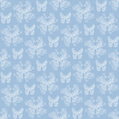 Digital Art - Lalabutterfly Blue Wedgewood by Deborah Runham