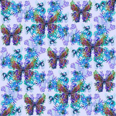 Digital Art - Lalabutterfly Blues by Deborah Runham