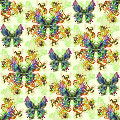 Digital Art - Lalabutterfly Lemons by Deborah Runham