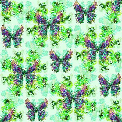 Digital Art - Lalabutterfly Minty by Deborah Runham